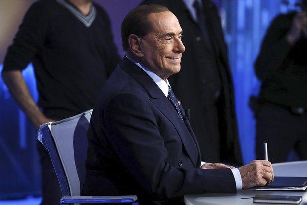 Сильвио Берлускони на ток шоу