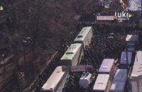 Верховную Раду окружили автобусами и колючей проволокой
