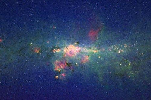 Ядро галактики Млечный Путь и окрестности