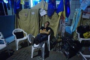 В МВД сообщили, что сносить палаточный городок пока не собираются