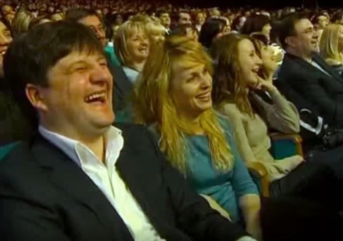 Ілля Павлюк із сім'єю на концерті Вечірнього кварталу