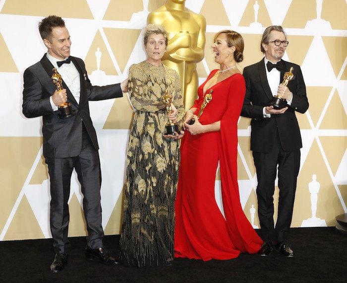 Победители в актерских номинациях: Сэм Рокуэлл, Фрэнсис Макдорманд, Эллисон Дженни и Гэри Олдмен