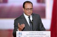 Олланд выразил поддержку Макрону