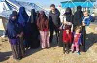 Українські жінки звільнені з сирійського табору для сімей терористів ІДІЛ