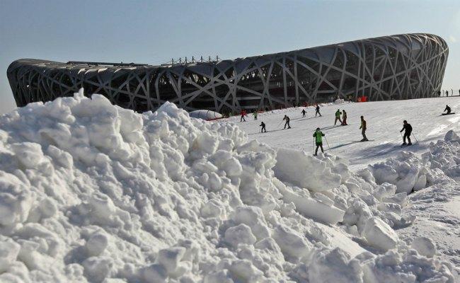 Возле главного стадиона Летней Олимпиады-2008, которую также принимал Пекин, уже давно действует парк зимних развлечений