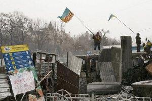 На вулиці Грушевського триває перемир'я між міліцією та демонстрантами
