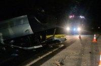 Під Києвом легкове авто з 16 людьми перекинулося на дах, загинули водій і 7-річний хлопчик (оновлено)