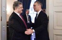 Порошенко и генсек НАТО обсудили ситуацию на Донбассе