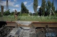 УЗ отремонтировала железную дорогу в оккупированный Алчевск