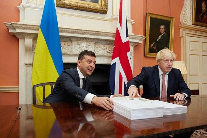 Президент Украины Владимир Зеленский и премьер-министр Британии Борис Джонсон