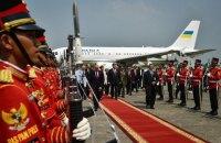 Порошенко прибыл с рабочим визитом в Индонезию