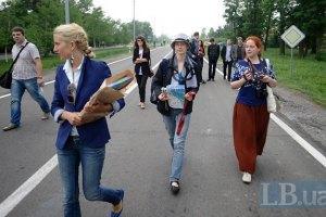 Журналистам запретили митинговать в Межигорье