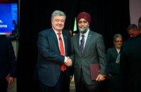 Порошенко обсудил с министром обороны Канады военно-техническую помощь Украине