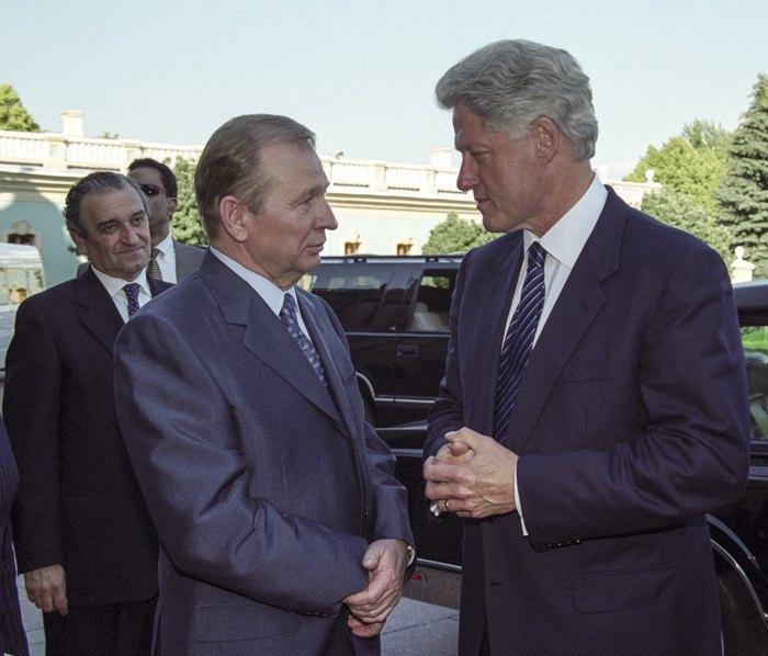 Леонід Кучма під час зустрічі з Біллом Клінтоном в Києві, літо 2000 року
