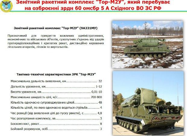 "ЗРК ""Тор-М2У"", который находится на вооружении зрдн 60 омсбр"