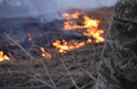 В результате обстрела боевиков под Марьинкой начался масштабный пожар