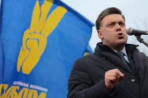 Тягнибок насчитал в Киеве 10 тысяч титушек