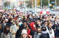 У Мінську пройшли протестні марші жінок та студентів, є затримані