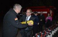 Германия передала ГосЧС спецсредства на 200 тыс. евро в связи с пожаром на арсенале возле Ични