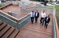 У Києві відкрили після реконструкції сходи на Пейзажній алеї