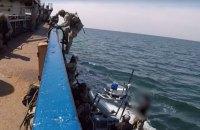 Украинские военные провели тренировочный захват вражеского судна
