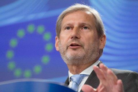 Єврокомісар Хан виступив за якнайшвидший прийом балканських країн в ЄС