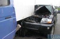 ДТП в Киеве: джип втаранился в ГАЗель