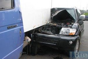 ДТП у Києві: джип втаранився в ГАЗель