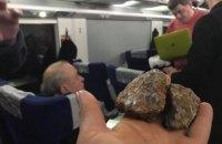 В Інтерсіті+ Київ-Львів невідомі каменем розбили вікно, біля якого сиділа Руслана