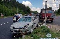 """На трассе """"Киев - Одесса"""" автомобиль наехал на рабочих, наносивших разметку"""