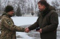 Міністр оборони Загороднюк відвідав Луганську область і привітав військових із Різдвом