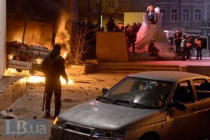 Міліція застосовує гумові кулі проти демонстрантів