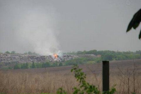 На Рівненському сміттєзвалищі сталася пожежа