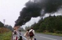 В Турции загорелся автобус, не менее 10 человек погибли