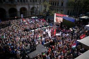 У Будапешті пройшов багатотисячний опозиційний мітинг