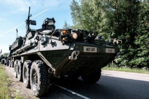 Під час зіткнення бронетранспортерів у Литві постраждали близько 10 американських військових