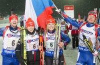 Сборная Чехии выиграла первую гонку на ЧМ по биатлону