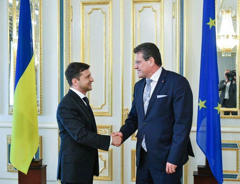 Володимир Зеленський і віце-президент Європейської комісії Марош Шефчович