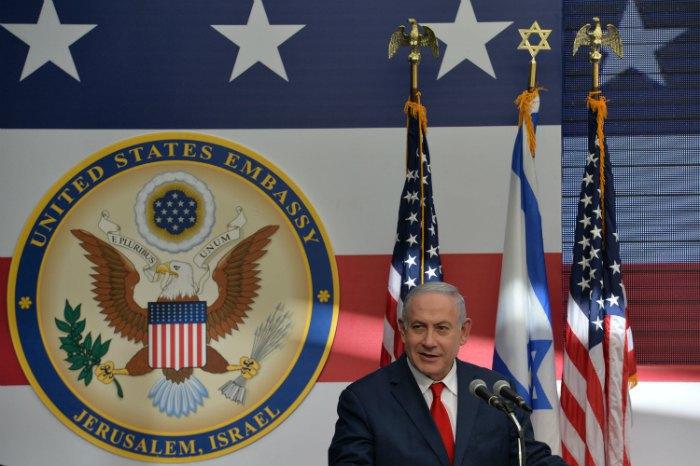 Премьер-министр Израиля Беньямин Нетаньяху на открытии посольства США в Иерусалиме