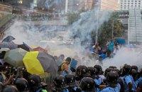 В ночных столкновениях в Гонконге пострадали 20 человек