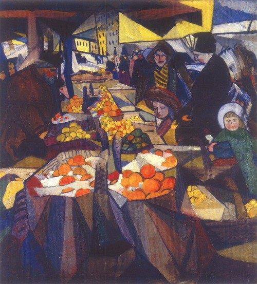 «Сінний ринок», 1914. Олія, полотно.