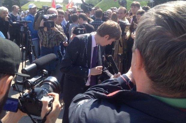 Пострадавший российский журналист