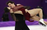 Фигуристы из Канады выиграли на Олимпиаде первенство среди танцевальных пар