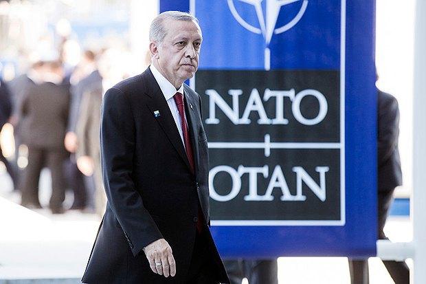 Президент Турции Реджеп Тайип Эрдоган на саммите НАТО в Брюсселе, Бельгия, 25 мая 2017.