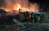 У Києві під час гасіння пожежі в приватному будинку вибухнули газові балони
