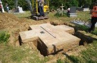 На месте памятника воинам УПА в  Грушовичах обнаружено захоронение