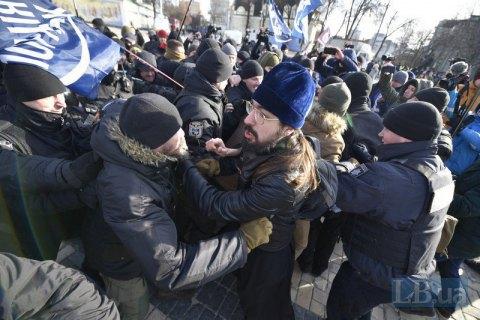 Полиция назвала число задержанных в ходе беспорядков на Транс-марше в Киеве