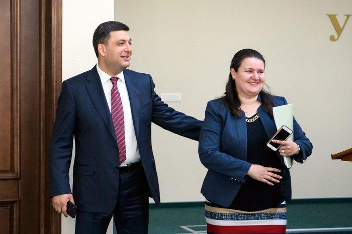 Володимир Гройсман і Оксана Маркарова