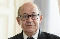 Зеленський обговорив з головою МЗС Франції  Ле Дріаном ситуацію на Донбасі