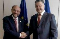 Порошенко в Брюсселе встретился с главой Европарламента